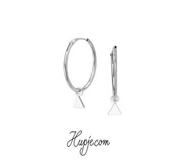 zilveren oorbellen driehoekje