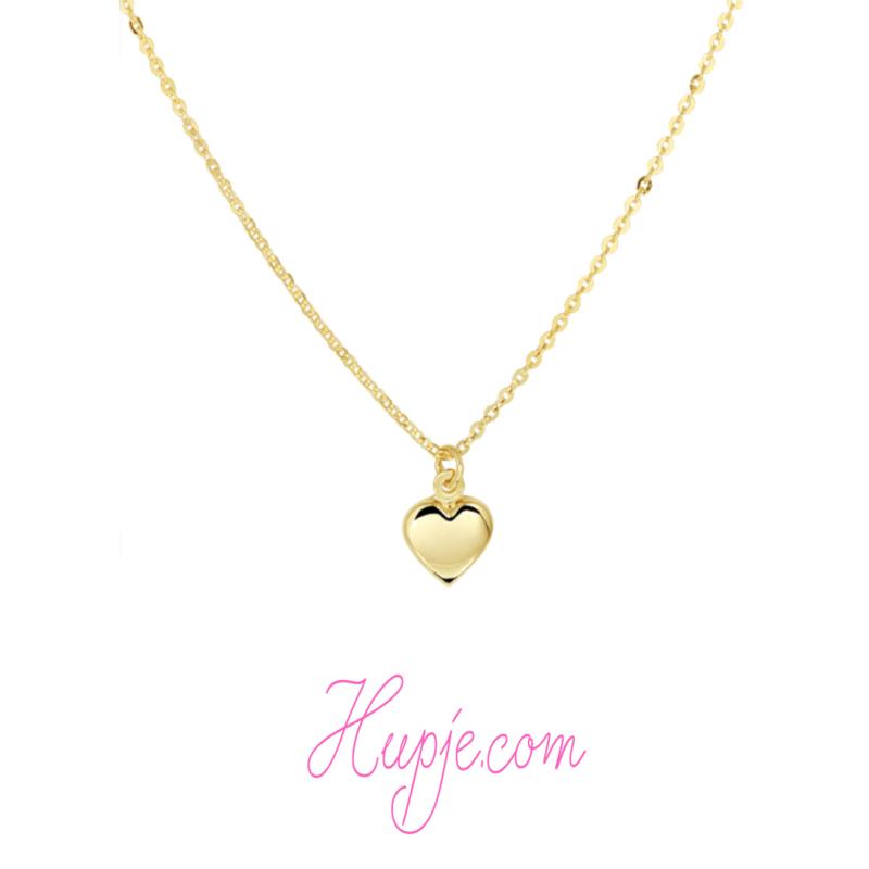 14 karaat gouden kinderketting hartje
