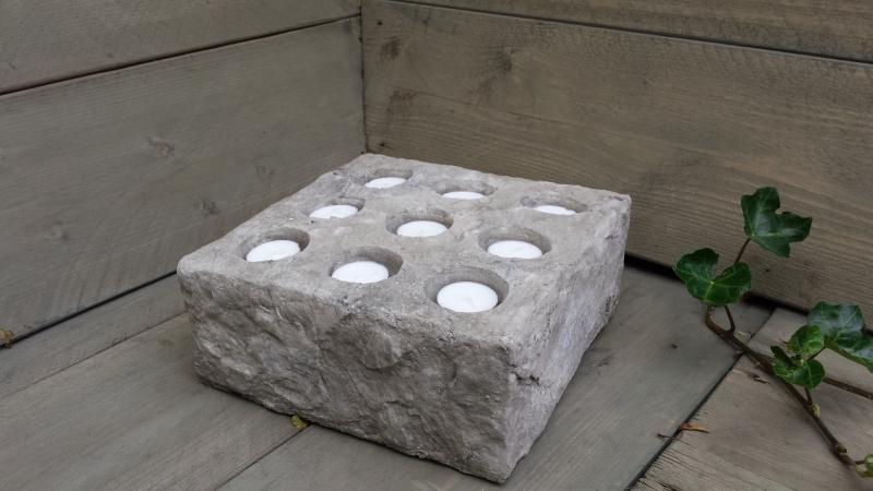 brynxz Multi Candleholder stone D25-H10 P_7087-A99A