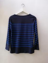 Bretonse truitje / T-shirt (donkerblauw - koningsblauwe streep)