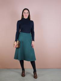 Karlijn rok - groen wol
