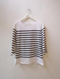 Bretonse truitje / T-shirt (wit - zwarte streep)