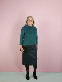 Sofia rok - groen imitatie leer