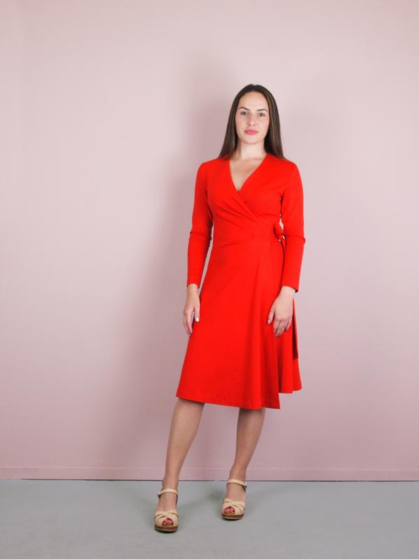 Kathy Wrap Dress red (Oeko-Tex)