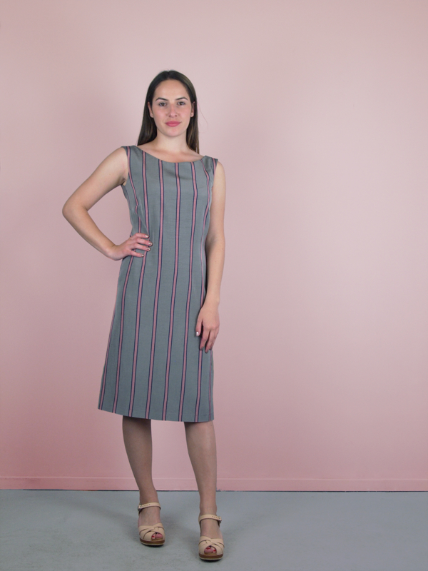 Mia Dress stripe print