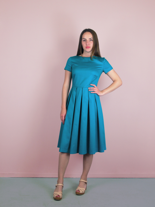 Claudia Dress petrol blue