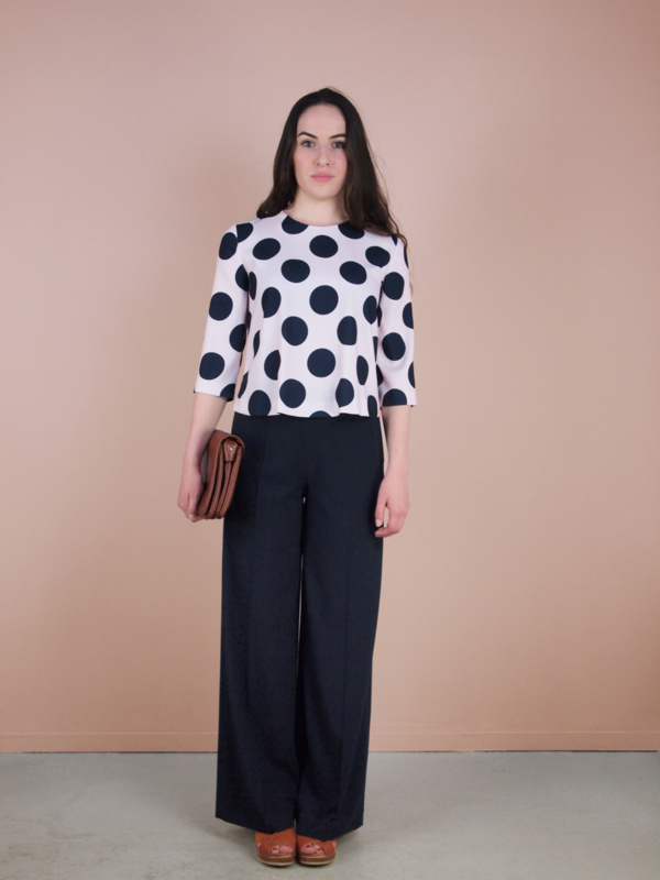 Isabelle Top Dots pink-blue