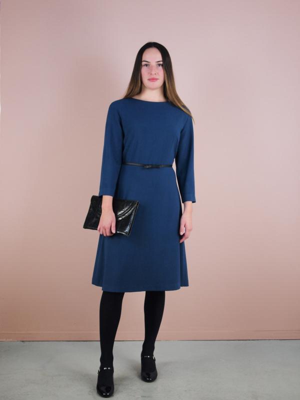 Jacky jurk crepe nachtblauw