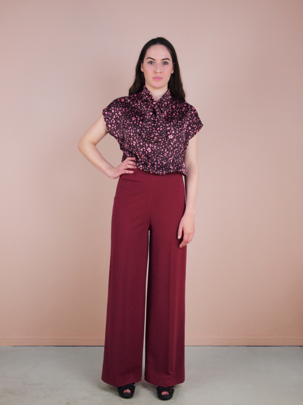 Marlene pantalon - bordeaux