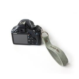 Leren camera polsband  met ring