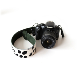 Leren camerariem - dalmatier     donker groen