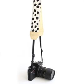 Leren camerariem - dalmatier  |  geel