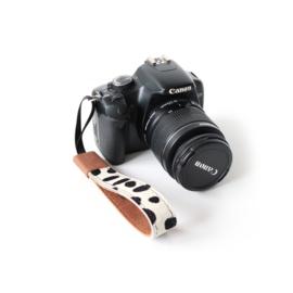 Leren camera polsband - Cognac | dalmatier