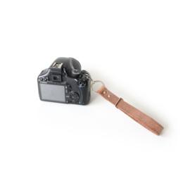 Leren camera polsband  -doorgang verstelbaar