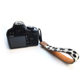 Leren camera polsband retro