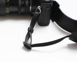 Leren camerariem Luipaard III - zwart