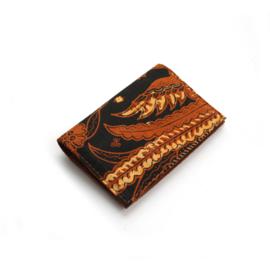 Batik portemonnee mapje cognac