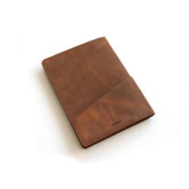 Leren notitieblok bruin
