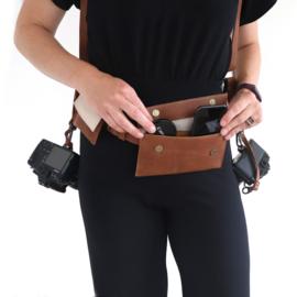 Heuptasjes voor batterij, telefoon, lensdop en geheugenkaart | schuin