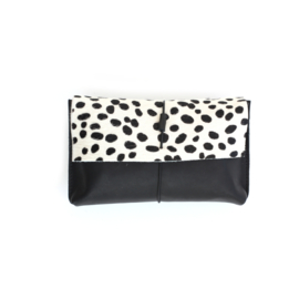 Nappy clutch Dalmatian - Black