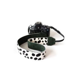 Leren camerariem - dalmatier  |  donker groen