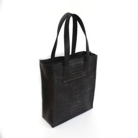 Laptop shopper croco zwart
