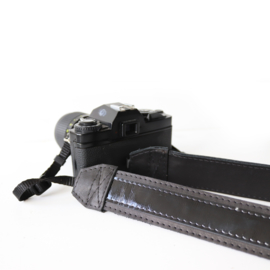 Lederen camerariem - Simone   Lak zwart