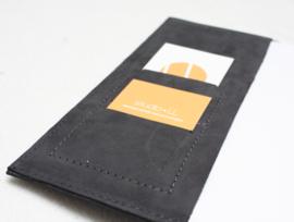 Lederen notitieboekje hoes A5 - donker grijs