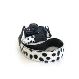 Leren camerariem - dalmatier  |  zwart