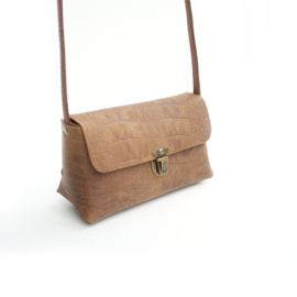 Crossbody bag Marit - croco brown