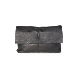 Nappy clutch Croco black