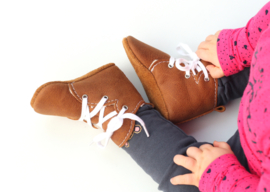 WInter cognac booties baby