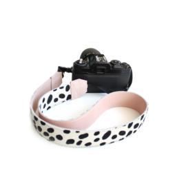 Leren camerariem dalmatier licht roze