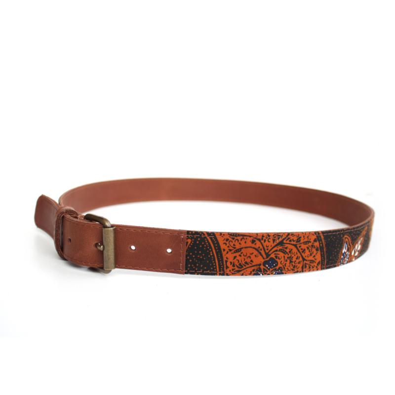 Batik rood bruine broekriem