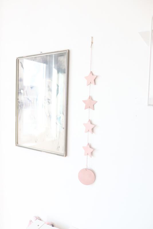 Leren decoratiehanger
