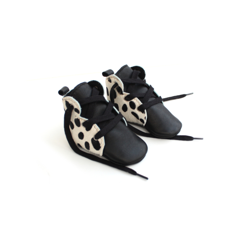 Black print booties - more prints available
