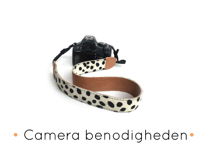 handgemaakte leren camerariemen