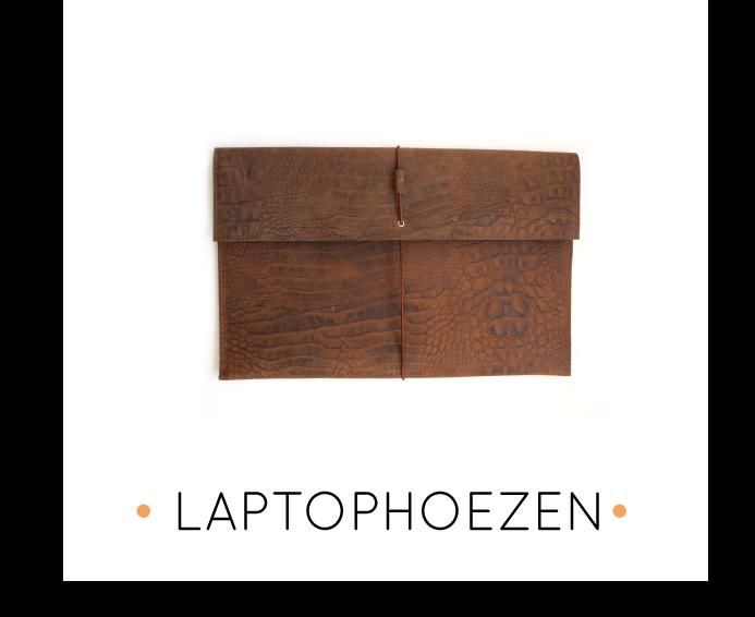 handgemaakte leren laptophoezen op maat