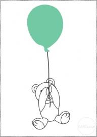 Poster | Beertje aan ballon