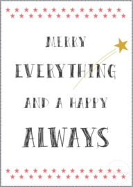 Kaart | Merry everything and a happy always