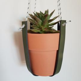 Plantenhanger | Leer | Legergroen