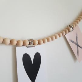Woonketting 100 cm | Met 3 rvs klemmetjes
