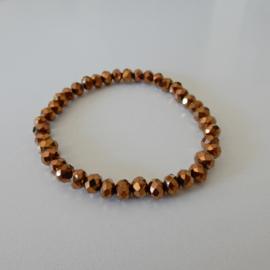 Armband | Bruin metallic