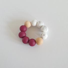 Bijtring | Bordeauxrood-marble