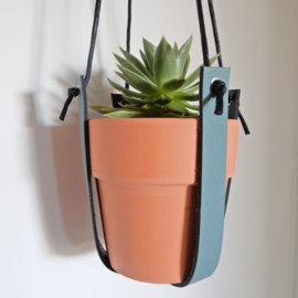 Plantenhanger | Leer | Grijsgroen