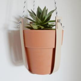 Plantenhanger | Leer | Cream