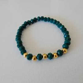 Armband | Donker petrol groen