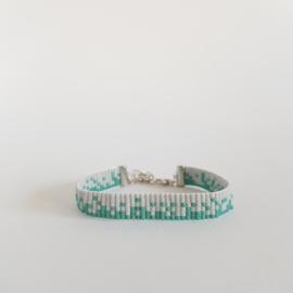 Weefarmband | Grijs-groen