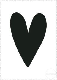 Kaart | Zwart hart