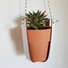 Plantenhanger | Leer | Wit